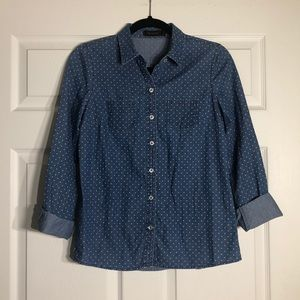 The Limited > Jean Polka Dots Botton Down Shirt